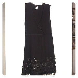 Nanette Lepore Black knit cocktail dress